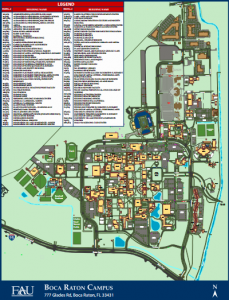 Fau Campus Map Venue – LACCEI 2017 – The OAS Summit of Engineering for the Americas Fau Campus Map
